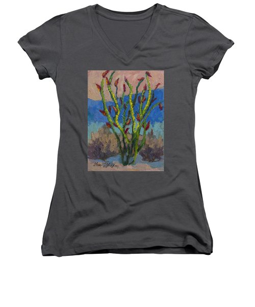 Evening Ocotillo Women's V-Neck