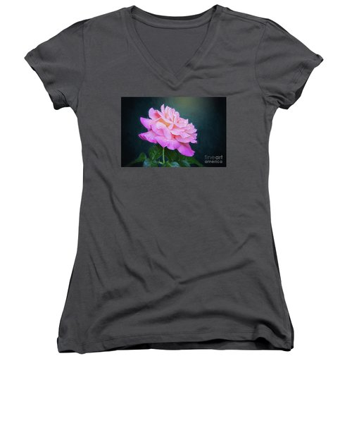 Evening Rose Women's V-Neck