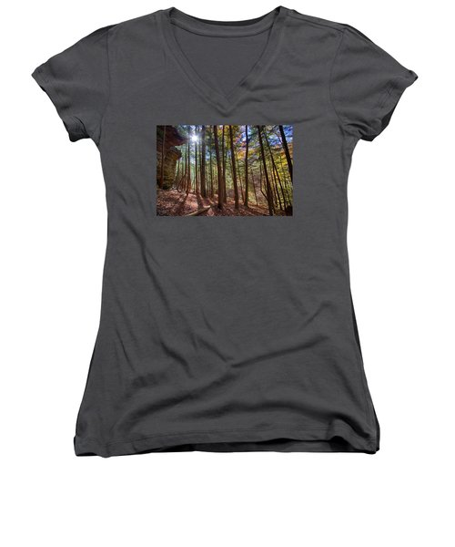 Evening Shadows Women's V-Neck (Athletic Fit)
