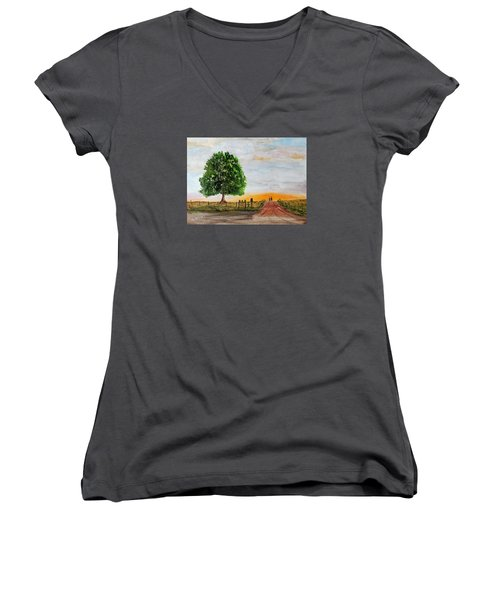 Evening Stroll Women's V-Neck T-Shirt