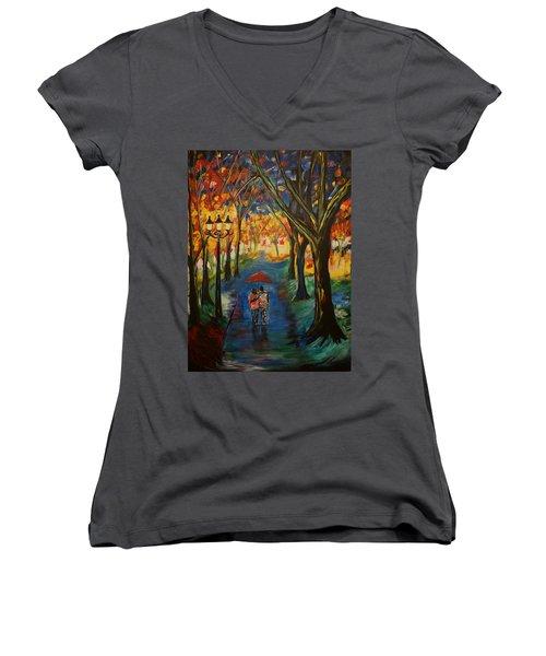 Everlasting Love Women's V-Neck T-Shirt (Junior Cut) by Leslie Allen