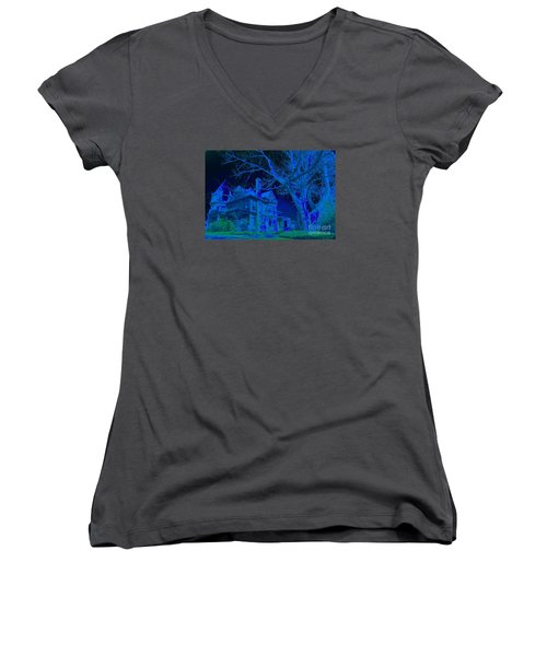 Every Town Has One Women's V-Neck T-Shirt (Junior Cut) by Jesse Ciazza