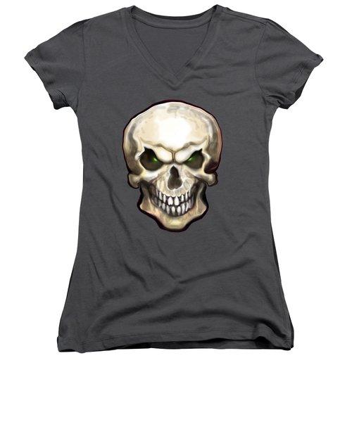 Evil Skull Women's V-Neck
