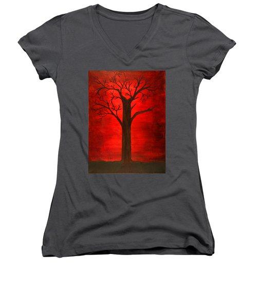 Evil Tree Women's V-Neck (Athletic Fit)