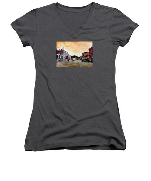 Exeter Nh Circa 1920 Women's V-Neck