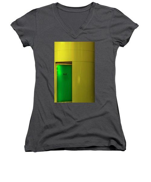 Exit Women's V-Neck T-Shirt (Junior Cut) by Paul Wear