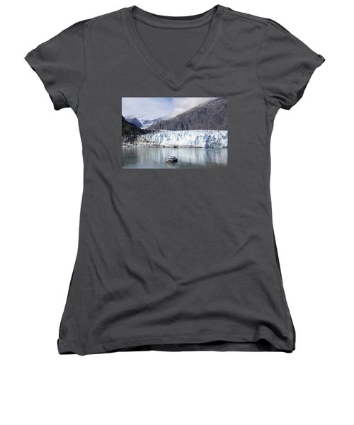 Exploring Glacier Bay Women's V-Neck T-Shirt