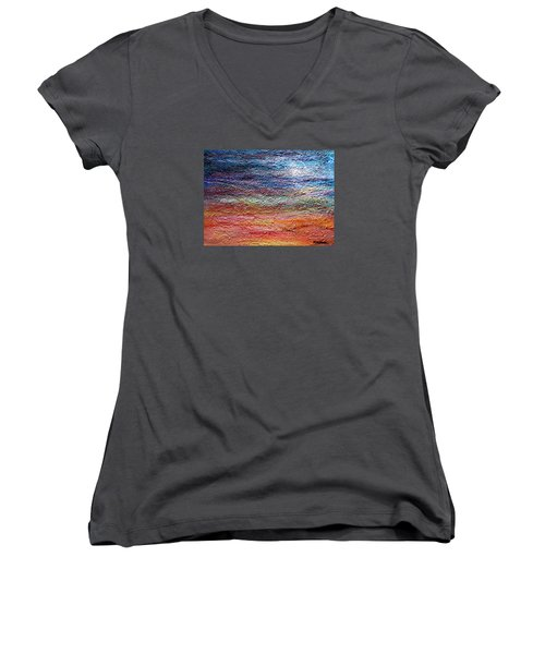 Exploring The Surface Women's V-Neck T-Shirt (Junior Cut) by Roberta Rotunda