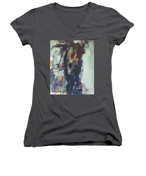Expressive Women's V-Neck T-Shirt (Junior Cut) by Robert Joyner