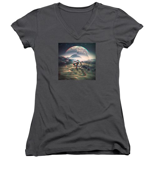 Extinction Women's V-Neck T-Shirt (Junior Cut)