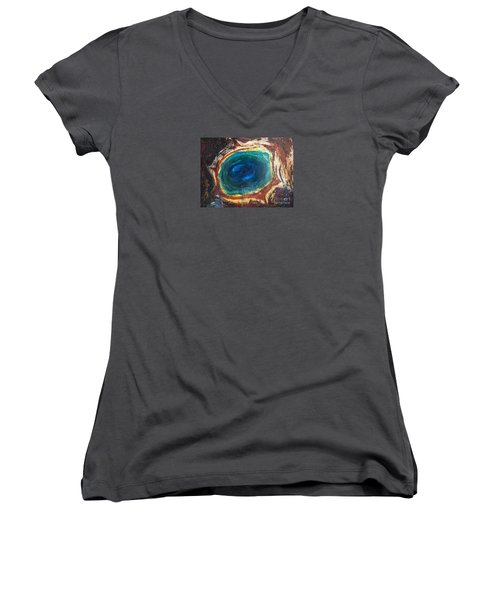 Eye Into The Earth Women's V-Neck
