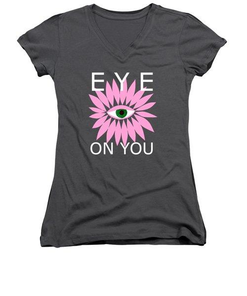 Eye On You - Black Women's V-Neck T-Shirt