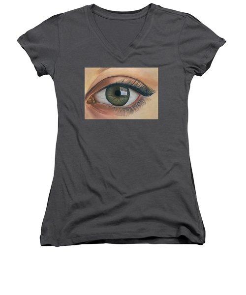 Eye - The Window Of The Soul Women's V-Neck T-Shirt