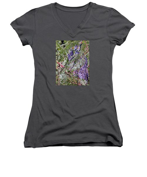 Eyes In The Forest Women's V-Neck T-Shirt (Junior Cut) by Ansel Price