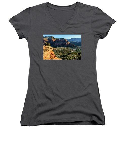 F And B Ridge 07-021 Women's V-Neck T-Shirt (Junior Cut) by Scott McAllister