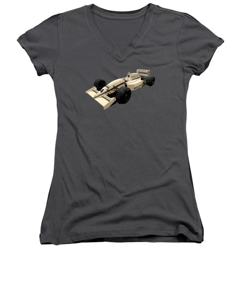 F1 B Racer Art Women's V-Neck