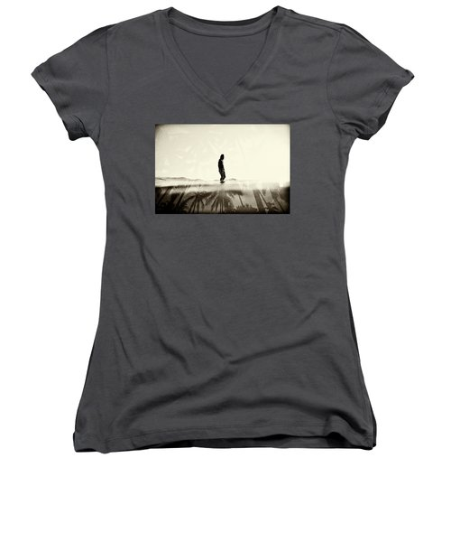 Face The Sun 2 Women's V-Neck (Athletic Fit)