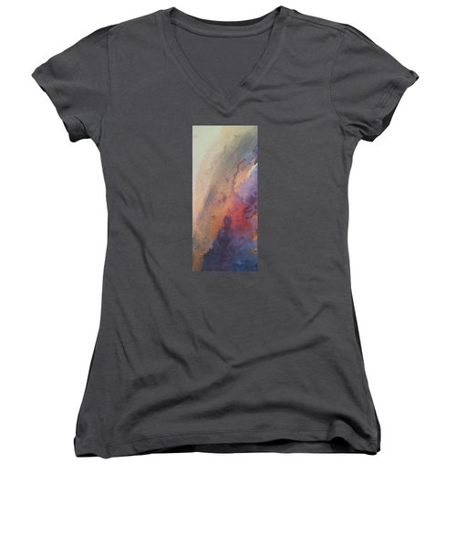 Facing Her Demons Women's V-Neck T-Shirt (Junior Cut) by Becky Chappell