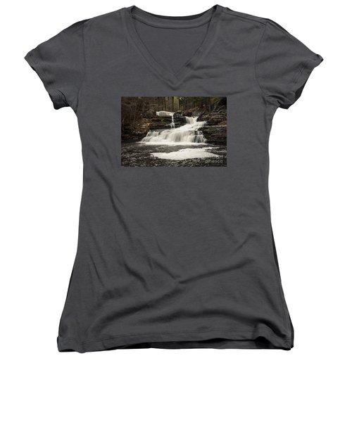 Factory Falls Women's V-Neck T-Shirt (Junior Cut)