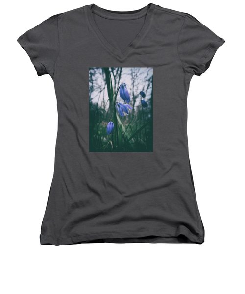 Fade Into The Blue Women's V-Neck T-Shirt (Junior Cut) by Karen Stahlros