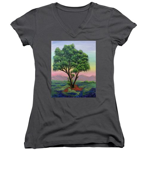 Fading Day Women's V-Neck T-Shirt