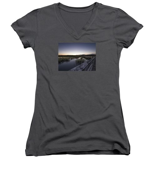 Fading Light Women's V-Neck (Athletic Fit)