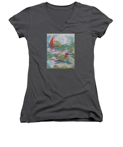 Fair Winds Calm Seas Women's V-Neck T-Shirt