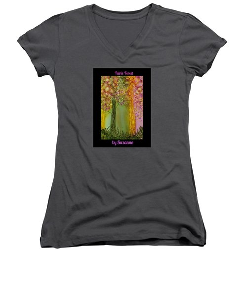 Fairie Forest Women's V-Neck (Athletic Fit)