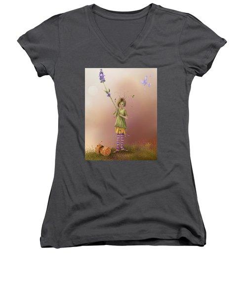 Fairy Bella Lavender Women's V-Neck T-Shirt