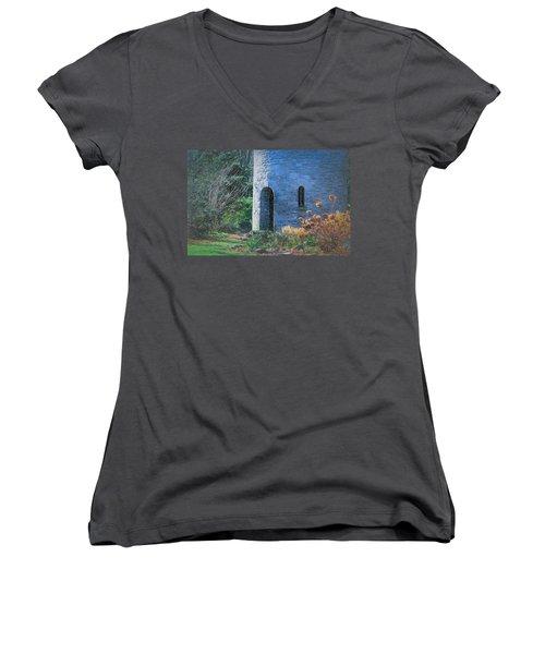 Fairy Tale Tower Women's V-Neck T-Shirt (Junior Cut) by Patrice Zinck