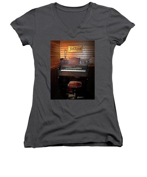 Faith, Hope And Charity Women's V-Neck T-Shirt (Junior Cut) by Judy Johnson