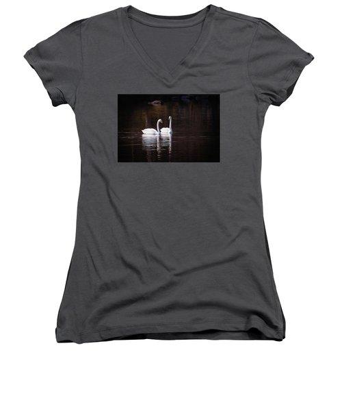 Faithfulness Women's V-Neck T-Shirt (Junior Cut) by Ari Salmela