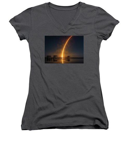 Falcon 9  Night Launch Women's V-Neck