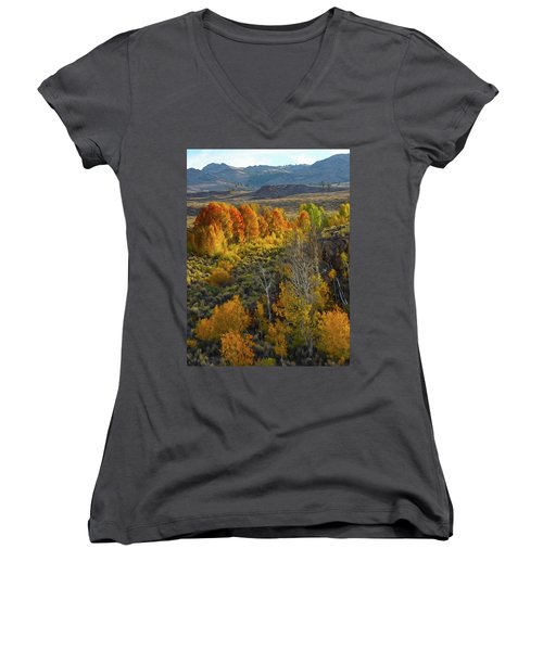 Fall Colors At Aspen Canyon Women's V-Neck (Athletic Fit)