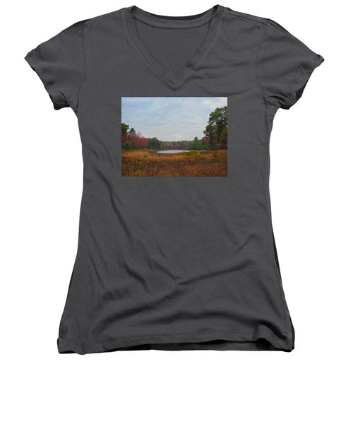 Fall Colors At Gladwin 4459 Women's V-Neck