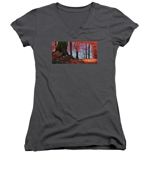 Fall Colors II Women's V-Neck T-Shirt