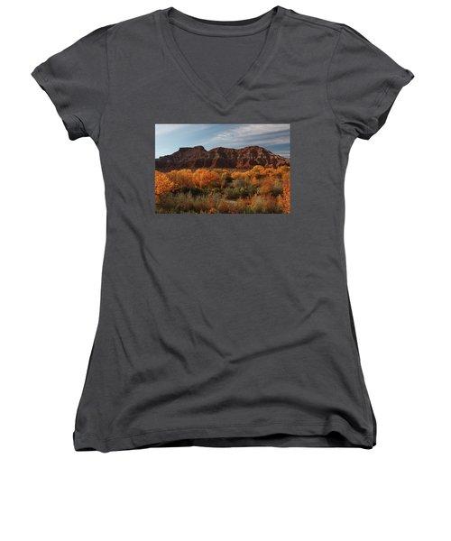 Fall Colors Near Zion Women's V-Neck T-Shirt