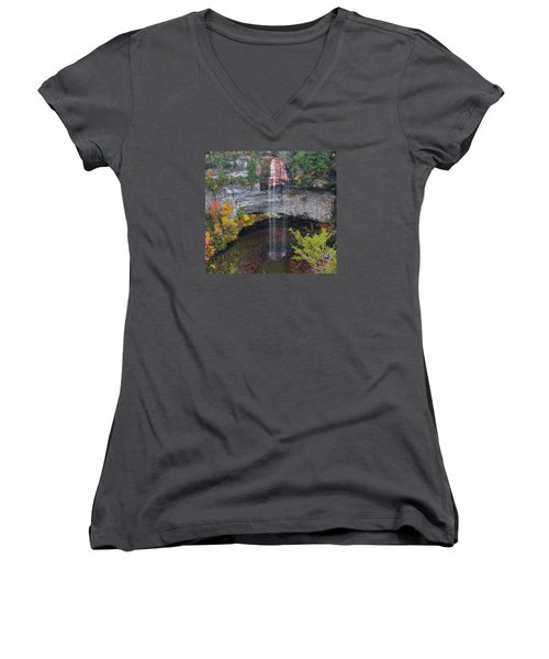 Fall Creek Falls 265 Feet Women's V-Neck (Athletic Fit)