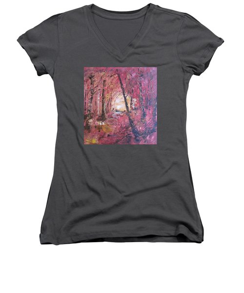 Fall Fire Women's V-Neck (Athletic Fit)