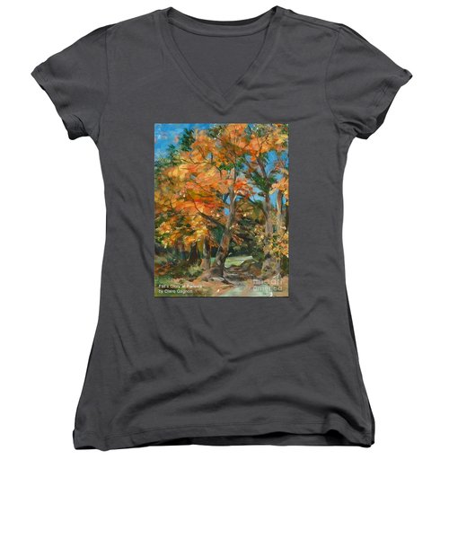 Fall Glory Women's V-Neck (Athletic Fit)