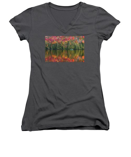 Fall In A Canoe Women's V-Neck