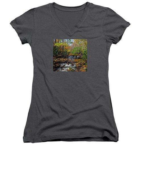 Fall In Cataloochee Women's V-Neck T-Shirt