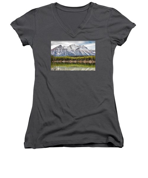 Fall In The Canadian Rockies Women's V-Neck