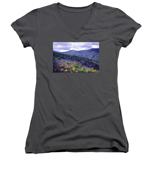 Fall In The White Mountains Women's V-Neck (Athletic Fit)