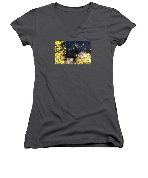 Fall Moose Women's V-Neck