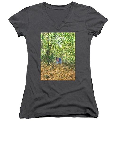 Fall Nymphs - IIi Women's V-Neck T-Shirt (Junior Cut) by Joel Deutsch