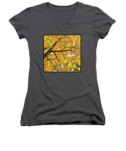 Women's V-Neck featuring the photograph Fall On William Street by Al Harden