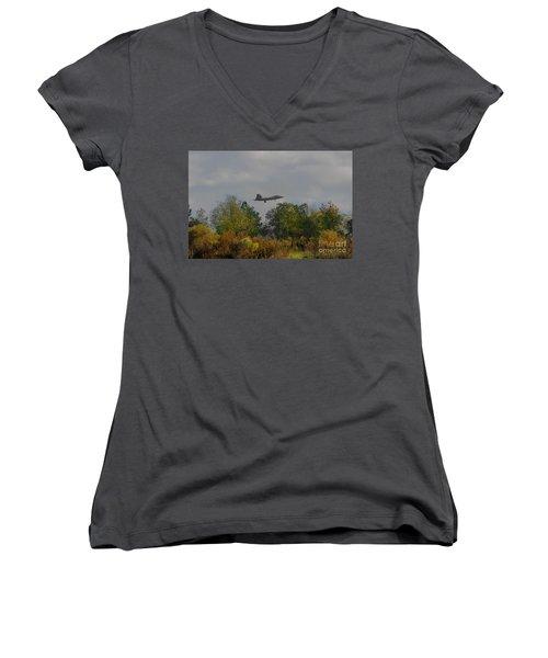 Fall Raptor Women's V-Neck T-Shirt
