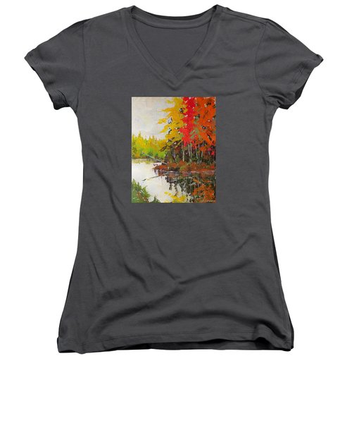 Fall Scene Women's V-Neck T-Shirt