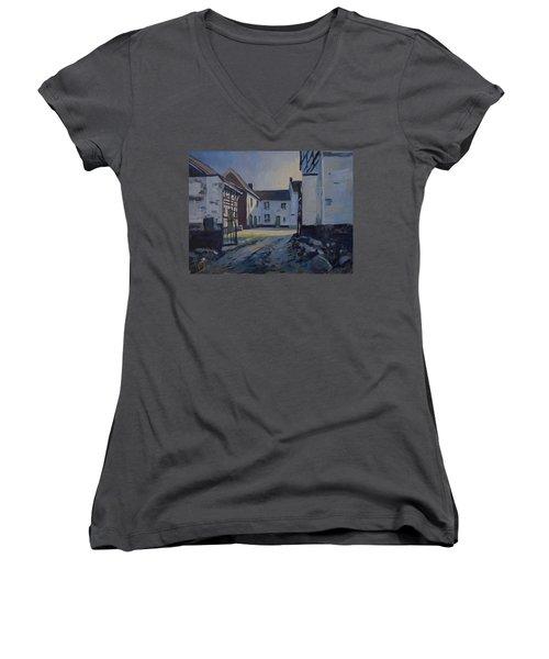 Fall Sumbeam Over The Woskoul Women's V-Neck T-Shirt